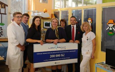 LOM PRAHA TRADE podpořil oddělení dětské chirurgie Nemocnice Na Bulovce