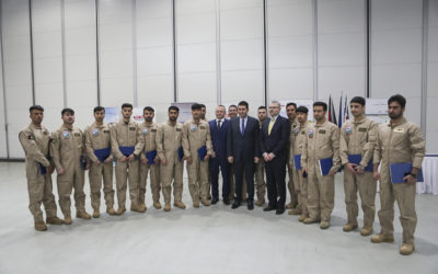 První slavnostní ceremoniál vyřazení afghánských studentů pilotů roku 2020
